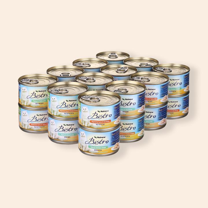 뉴트리나 비스트로 6가지맛 캔 24개입