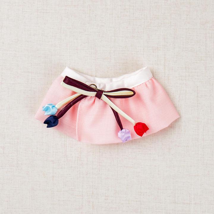 이츠독 방울꽃 한복케이프 핑크