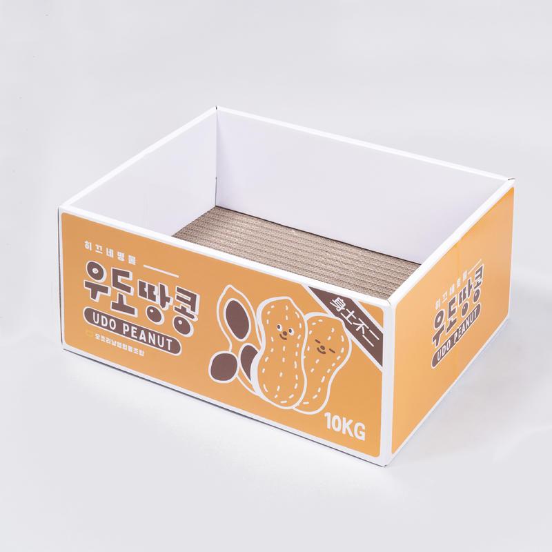 바잇미X펫플루언서 히끄 무접착 스크래쳐 박스 우도땅콩