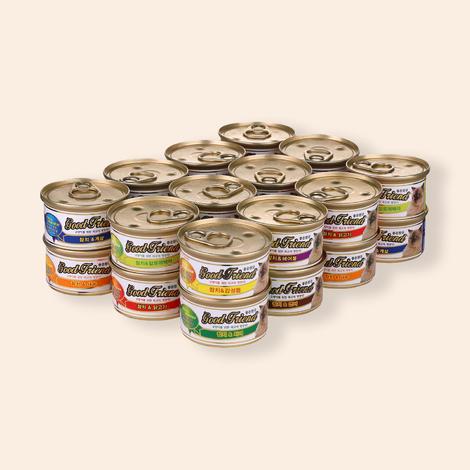 굿프랜드 8가지맛 캔 24개입