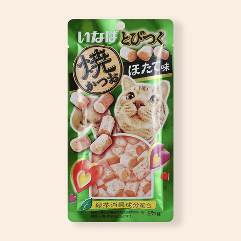 이나바 토비츠쿠 구운가다랑어&가리비맛 25g