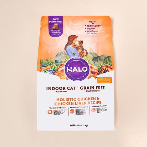 HALO 인도어 헬시웨이트 그레인프리 치킨&치킨간 2.72kg