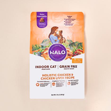 HALO 인도어 헬시웨이트 그레인프리 치킨&치킨간 1.36kg