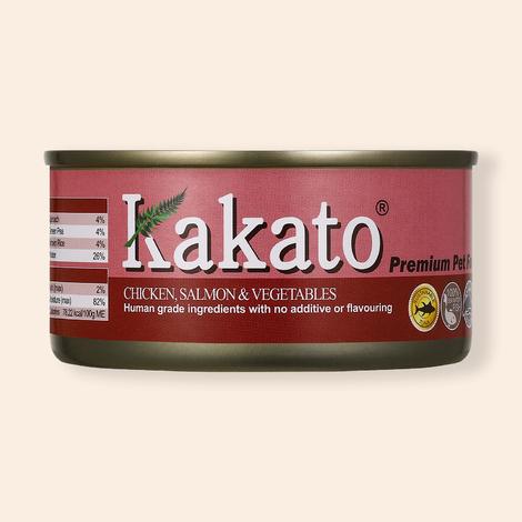 카카토 치킨&연어&야채 캔 170g