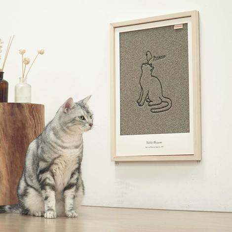 키트니 명화 스크래쳐 고양이 참새