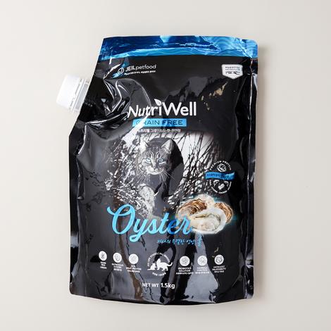 뉴트리웰 그레인프리 캣 전연령 오이스터 1.5kg
