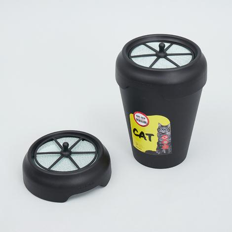 데오큐브 캣 분변처리통 4.5L + 뚜껑 1개