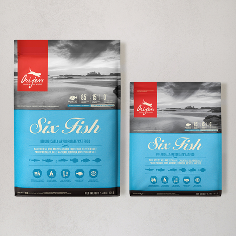 오리젠 6 피쉬 캣 5.4kg + 1.8kg (캠핑박스&의자 증정)